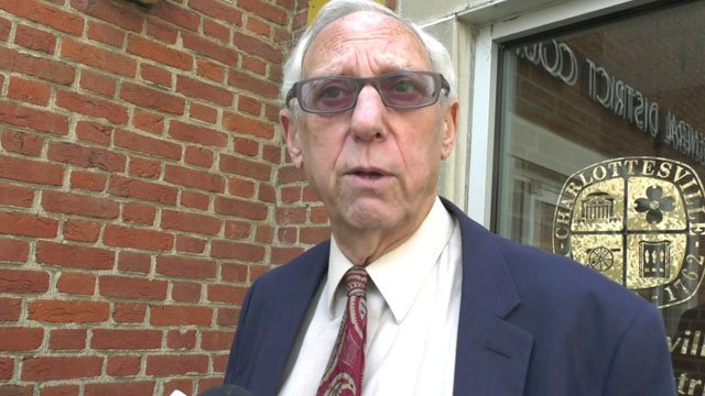 Attorney Jeffrey E. Fogel oustide Charlottesville General District Court