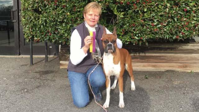 Debbie Caywood with Wilma