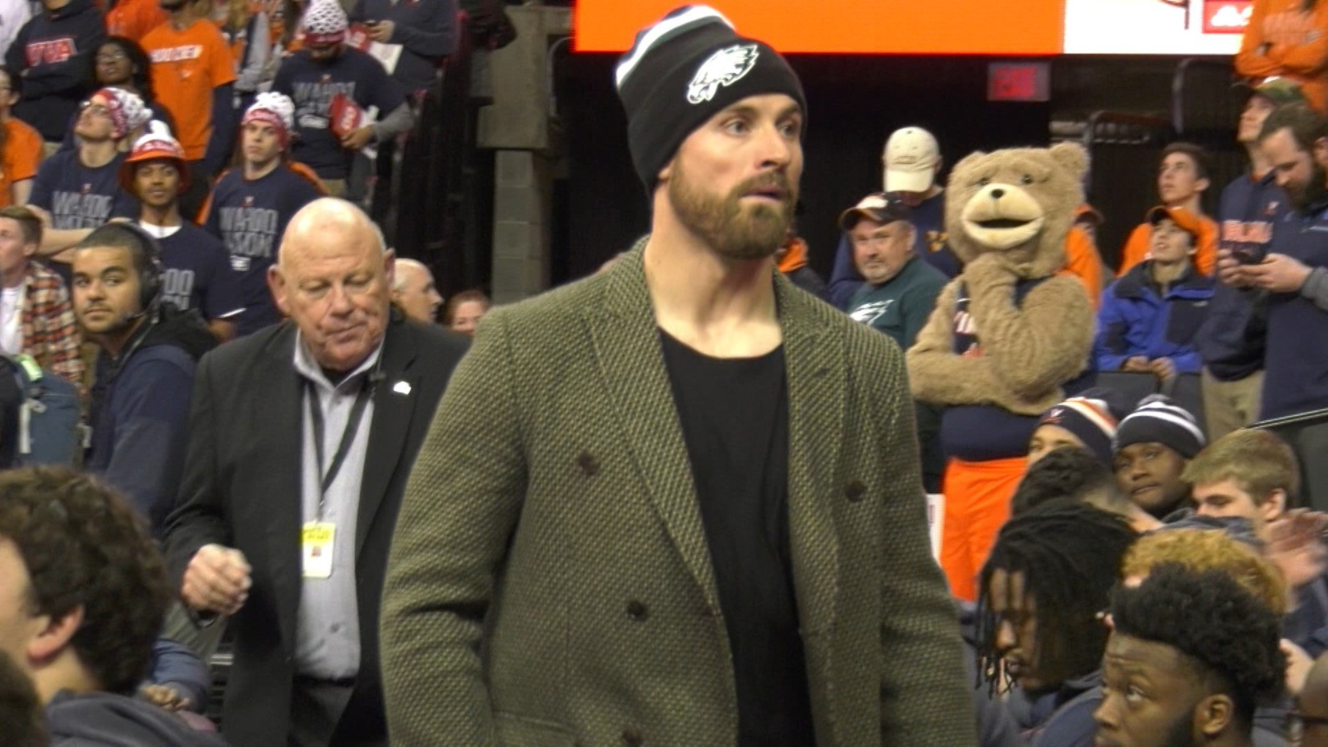 UVA Alum and Eagles defensive end Chris Long was a special guest on College GameDay's pregame show