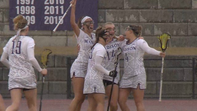 The JMU women's lacrosse team beat UNC for the first time since 2000