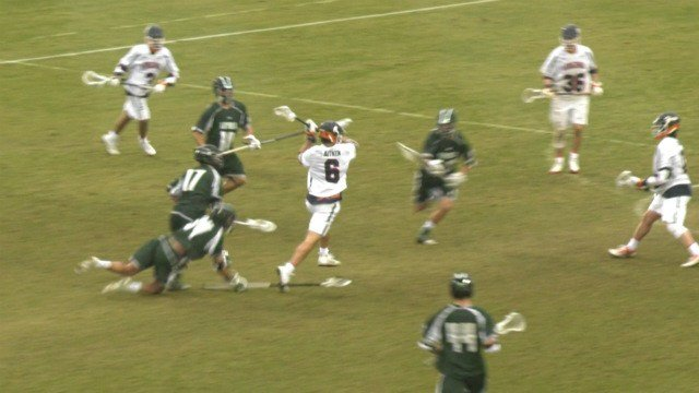 Sophomore Dox Aitken scored his only goal of the game in double overtime
