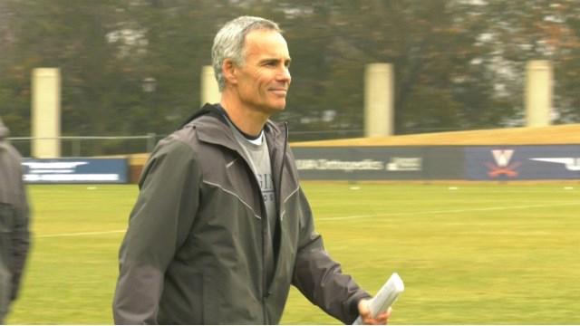 Virginia head coach Lars Tiffany