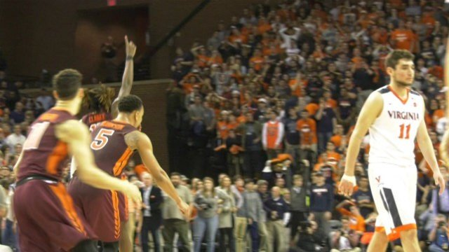 The Hokies upset the #2 Cavaliers 61-60 in overtime on Saturday