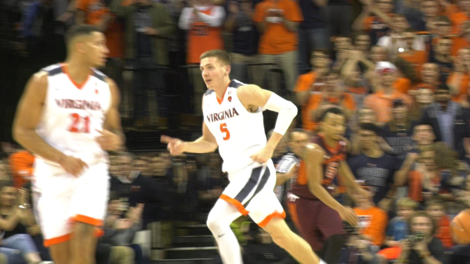 Kyle Guy went 3-of-14 from beyond the arc in the loss to the Hokies
