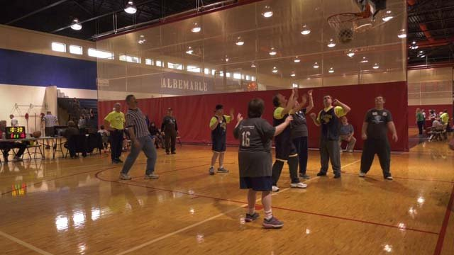 Special Olympics Virginia hosted a basketball game on Sunday