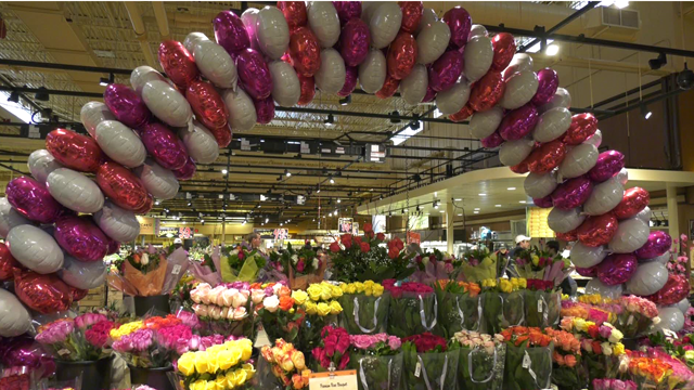 Florists stock up and staff up for Valentine's Day