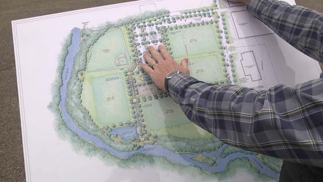 The plan calls for five new soccer fields