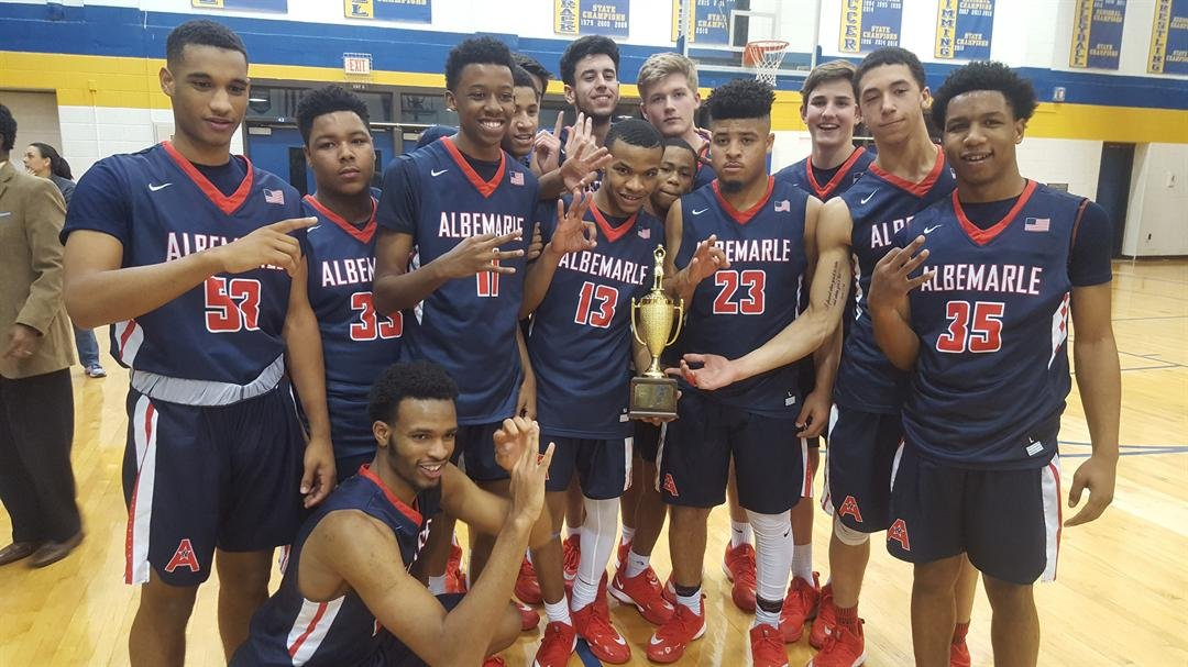Albemarle boys win the Jefferson District tournament championship