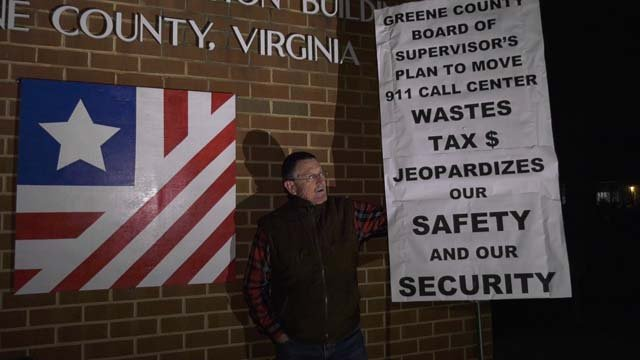 John Gress outside Tuesday night's meeting