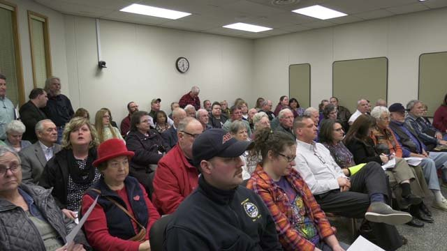 Greene County residents packed inside the meeting