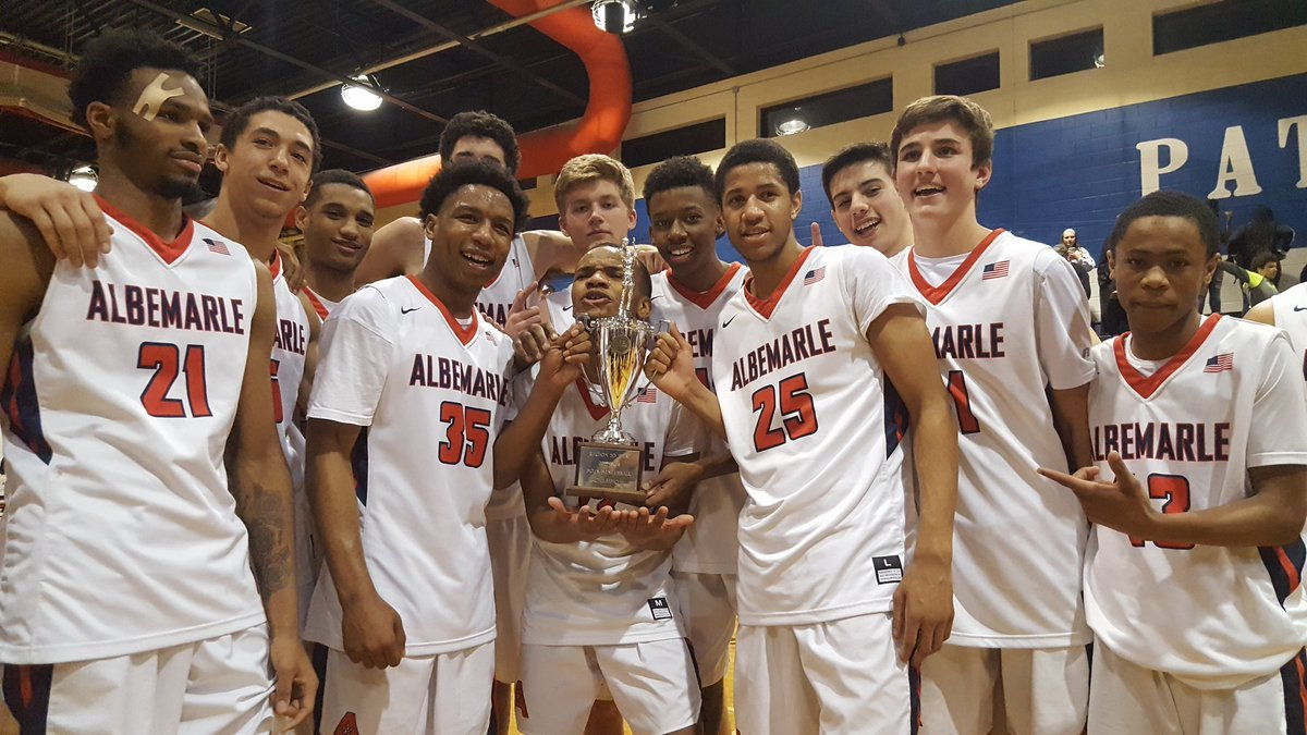 The Albemarle boys basketball team defeated Harrisonburg to win the regional championship