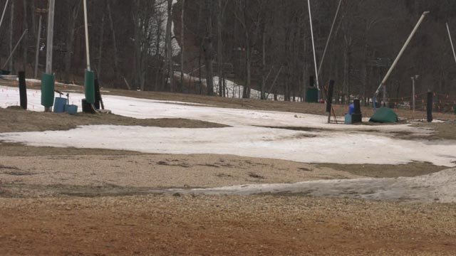 Recent warm temperatures have left snowmakers in a bind
