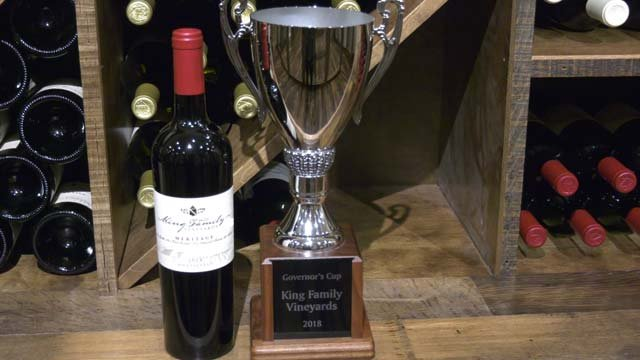 King Family Vineyard won the competition