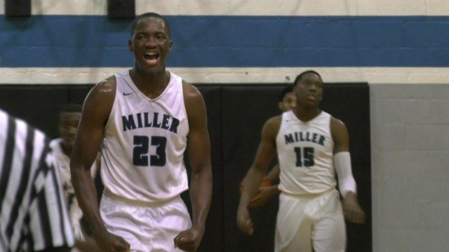 The Miller School's Tariq Balogun celebrates