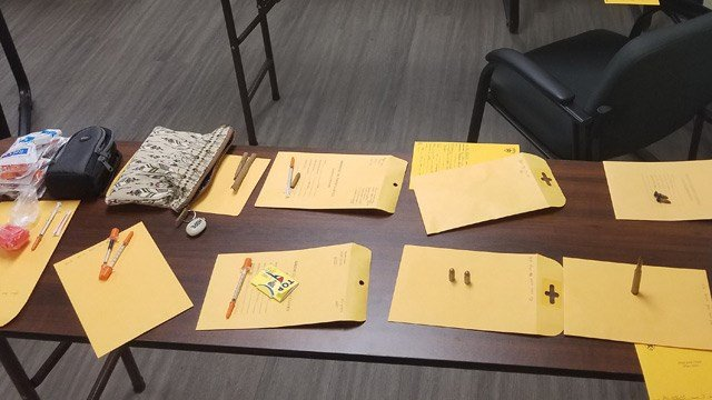 Items seized by investigators