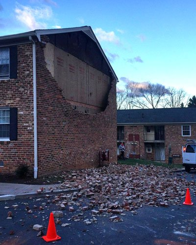 Hessian Hills Apartments in Charlottesville. No injuries reported