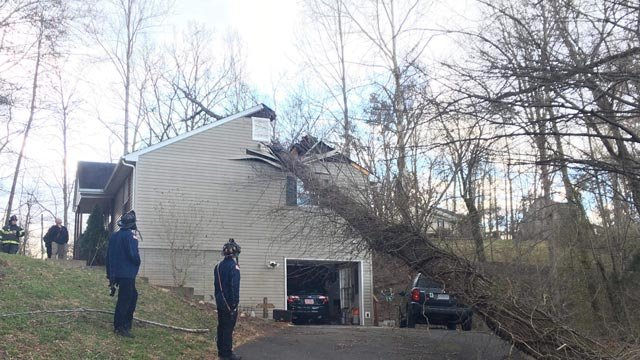 Greene County home damaged (Photo courtesy Sean Ryan with Ruckersville Fire)