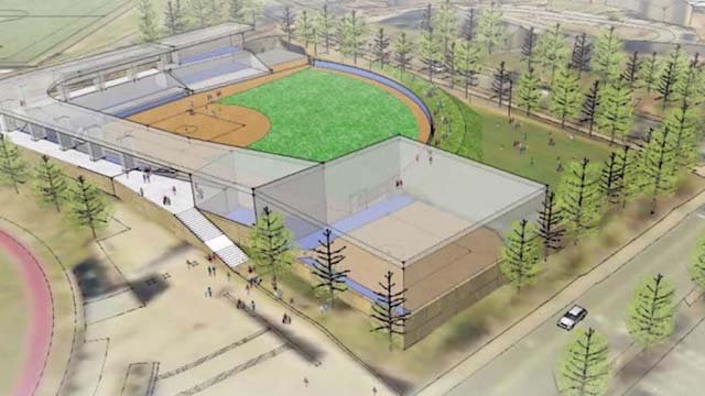 Plans for the new softball stadium