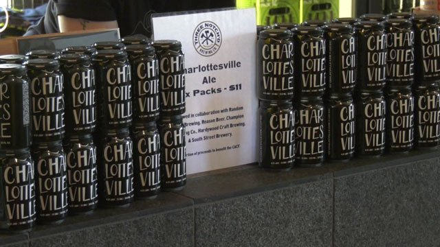Cans of Charlottesville Ale