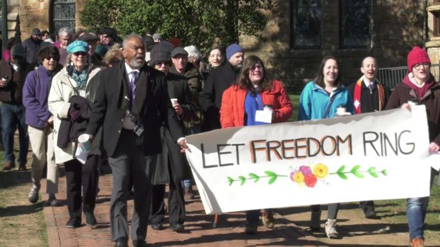 Liberation and Freedom Day march at the University of Virginia