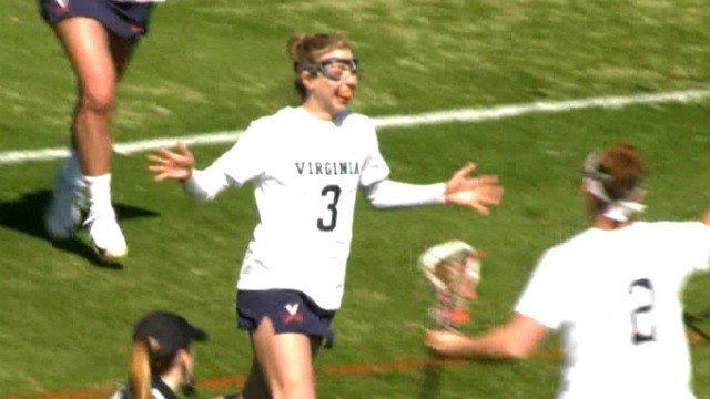 Lilly DiNardo had a hat trick for Virginia