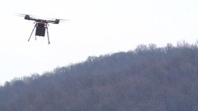 Drone being flown around King Family Vineyards