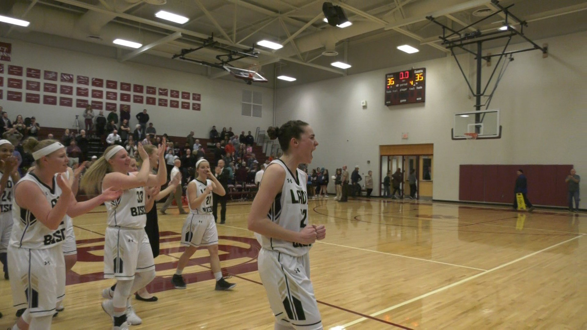 Leah Calhoun's late three-pointer lifted Buffalo Gap to the state championship game for the first time since 2009