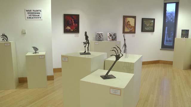war Paints exhibit at Blue Ridge Community College
