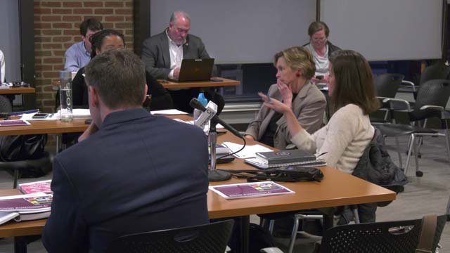 City Councilors discussing school funding