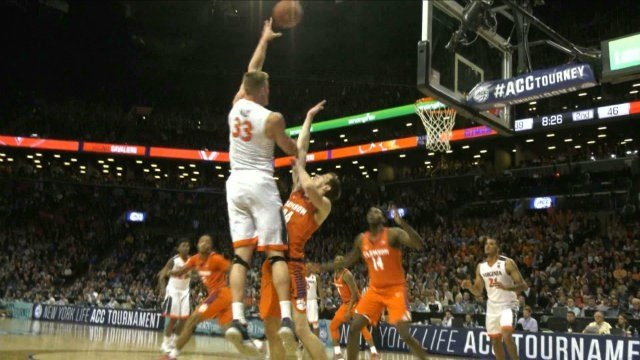Jack Salt scored 8 points and grabbed 8 rebounds for the 'Hoos