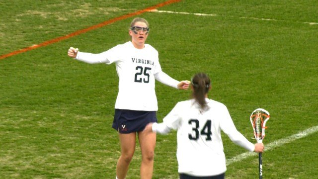 Sophomore Sammy Mueller scored three goals for UVa
