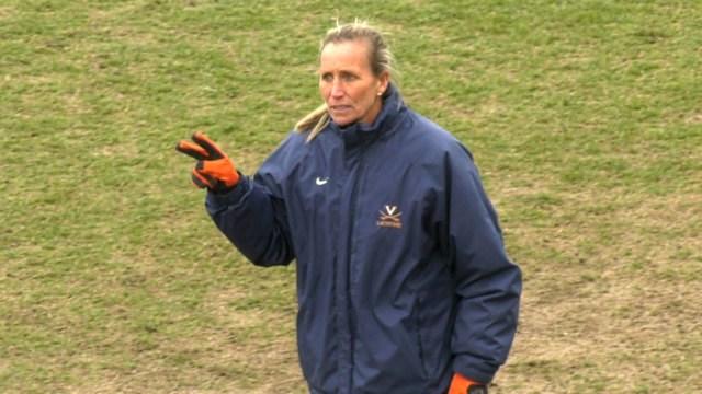 Virginia head coach Julie Myers