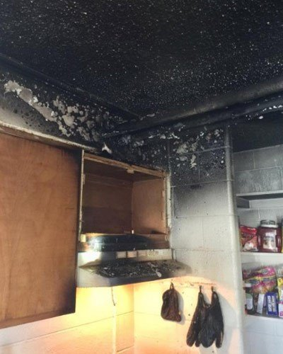 Scene of a kitchen fire in a Hardy Drive home (Photo courtesy CFD)