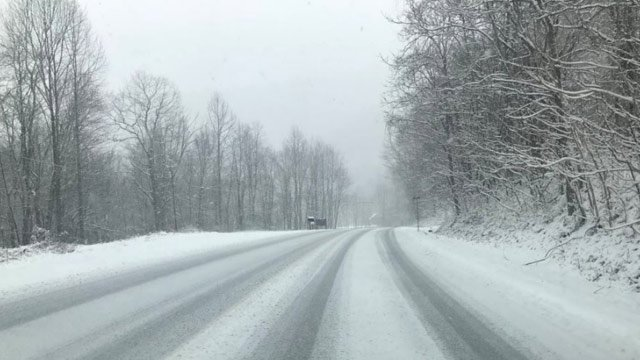 Snowy streets in Central VA captured by our reporter Lowell Rose.