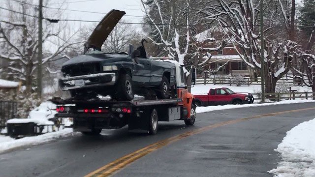 Pickup truck that was involved in a fatal crash with a train in Staunton (FILE IMAGE)