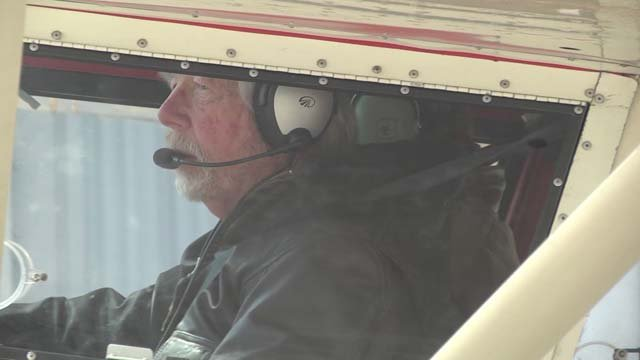 Michael Godfrey is one of 10 pilots flying over the valley