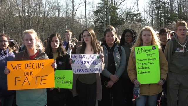Albemarle High School students take part in #NationalSchoolWalkout