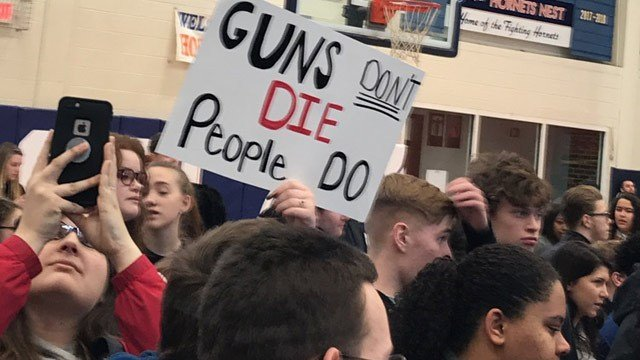 Orange County High School students participating in #NationalSchoolWalkout (Photo courtesy Lexi Boggs)