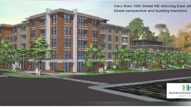 127 apartments are slated to be built on East Jefferson St.