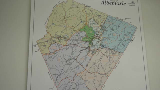 Map of Albemarle County polling locations