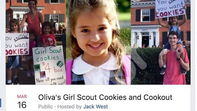 Olivia, a second grader, exceeded her cookie-selling goals