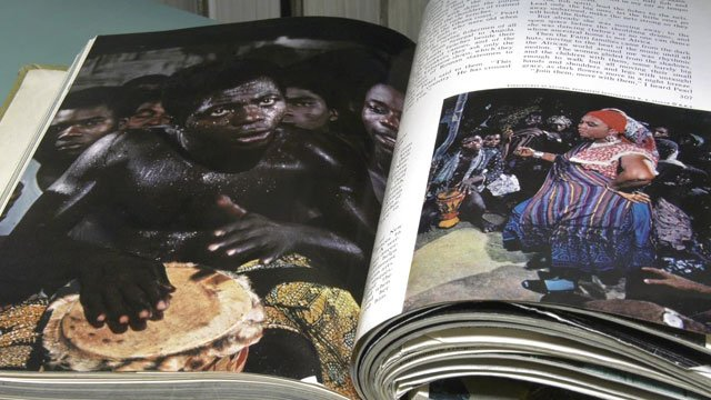 A copy of a National Geographic magazine