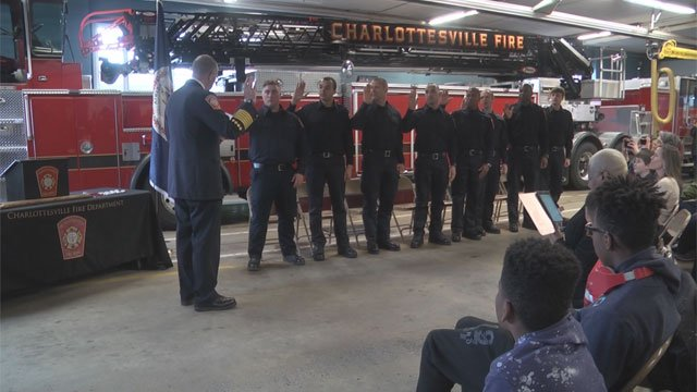 Eight new firefighters with the Charlottesville Fire Department