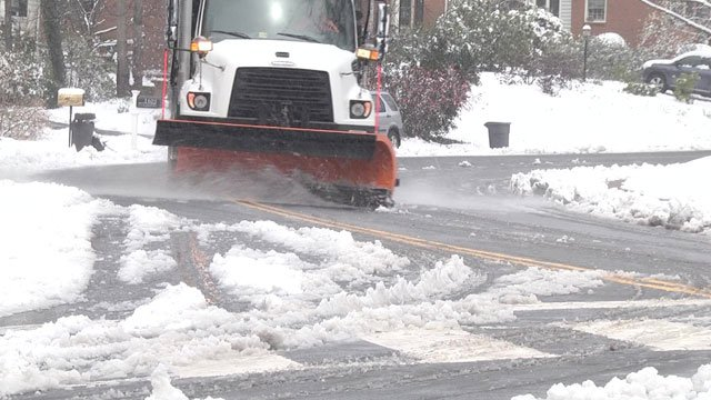 Public works crews are working to keep the streets clear