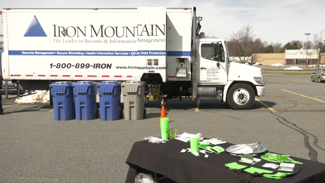 Thousands of documents were safely shredded.