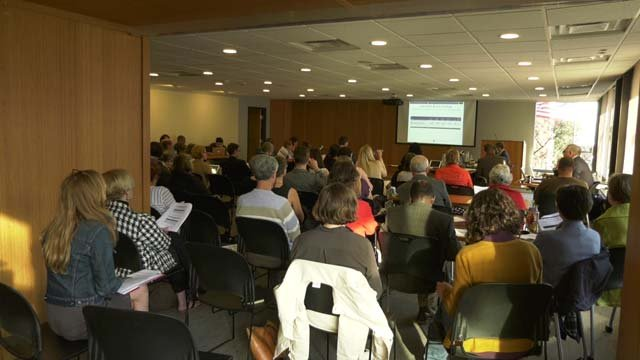 Fourteen nonprofits showed up at the session in the hopes of receiving funds