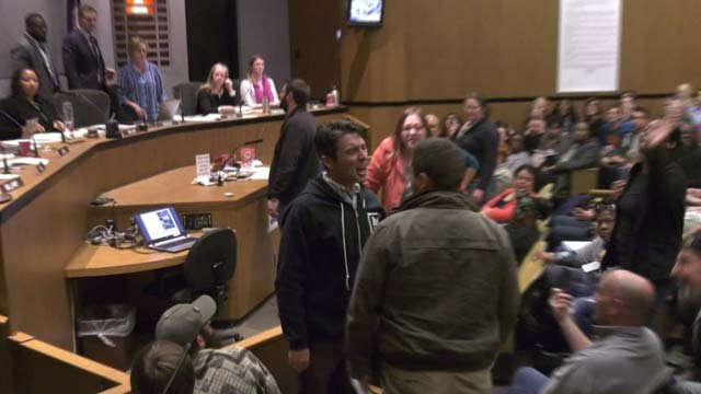 Monday's City Council meeting descended into chaos