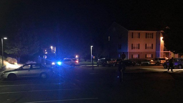 Police on scene of a shooting in Albemarle County