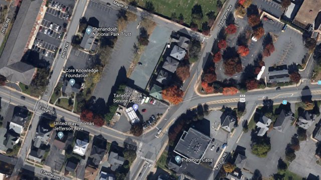Site of proposed development in Charlottesville (Image courtesy Google Maps)