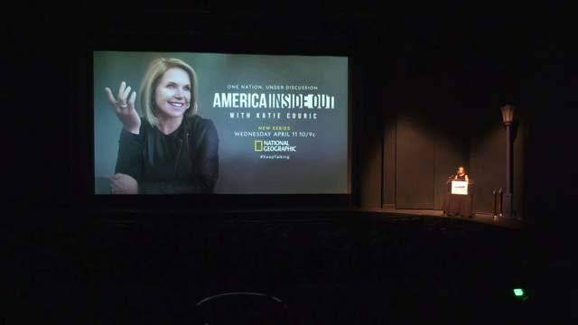 Katie Couric spoke at UVA today on her experiences during the August rally